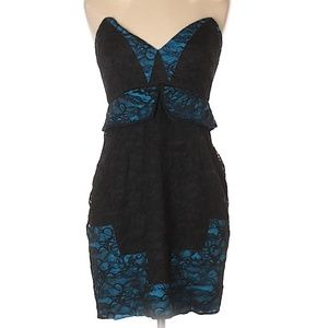 Foley + Corinna Strapless Lace Cocktail Dress, NWT